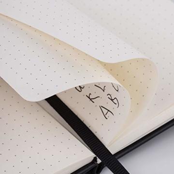 2 Stück Dotted Bullet Journal / A6 Dotted Notizbuch - Premium Dickes Papier Exekutive Hardcover Punktiertes Notizbücher mit Pocket + Markierungsband, Gebänderte, 145 X 105mm - Lemome - 2