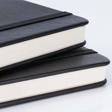 2 Stück Dotted Bullet Journal / A6 Dotted Notizbuch - Premium Dickes Papier Exekutive Hardcover Punktiertes Notizbücher mit Pocket + Markierungsband, Gebänderte, 145 X 105mm - Lemome - 3