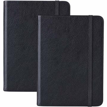 2 Stück Dotted Bullet Journal / A6 Dotted Notizbuch - Premium Dickes Papier Exekutive Hardcover Punktiertes Notizbücher mit Pocket + Markierungsband, Gebänderte, 145 X 105mm - Lemome - 1