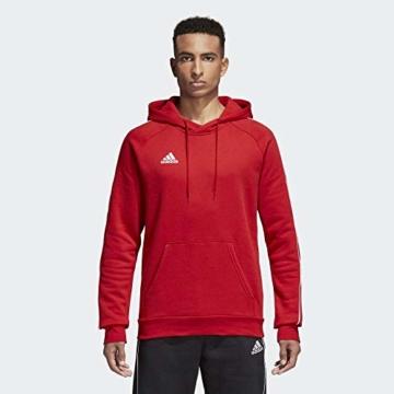 adidas Herren Core 18 Kapuzenpullover, rot (Power Red/White), L - 10