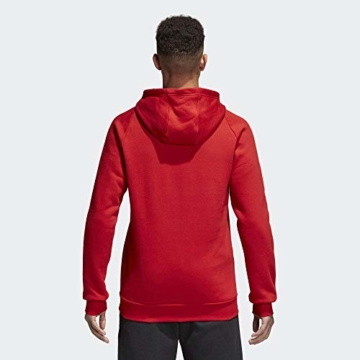 adidas Herren Core 18 Kapuzenpullover, rot (Power Red/White), L - 9