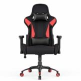 AmazonBasics - Gaming-/Bürostuhl, Racing Design, Rot - 1
