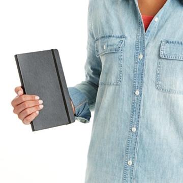 AmazonBasics Notizbuch, klassisches Design, groß, kariert - 8