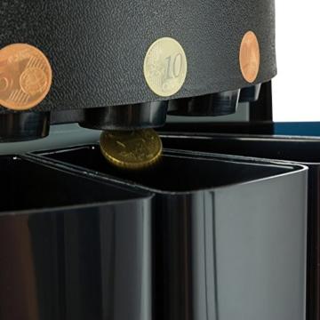 AREBOS Münzzähler Geldzählmaschine/für Euro Münzen/Schwarz / 300 Münzen pro Minute - 2