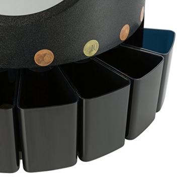AREBOS Münzzähler Geldzählmaschine/für Euro Münzen/Schwarz / 300 Münzen pro Minute - 8