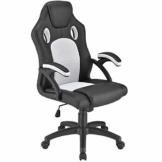 ArtLife Racing Schreibtischstuhl Montreal weiß | Armlehnen gepolstert & ergonomische Rückenlehne | Bürostuhl Drehstuhl Gaming-Stuhl - 1