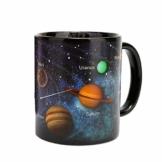 BESTonZON Thermoeffekt Tassen Farbwechsel Kaffeetasse Trinkbecher Geschenke 330ml Sternhimmel (Solar System) - 1