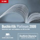 Buchkritik Platinum 2009, CD-ROM Belletristik, Sach- und Fachbücher von 1997 bis 2009. Für Windows ab 98 - 1