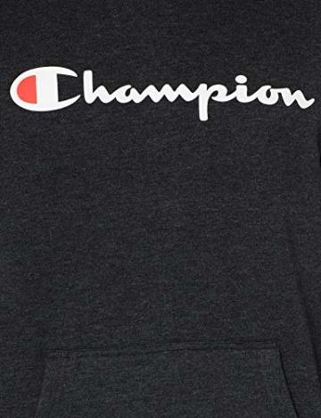 Champion Herren Classic Logo Kapuzenpullover, Grau KZ001, M - 4
