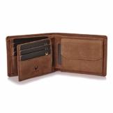 Donbolso Zürich Geldbörse Leder Herren - Geldbeutel braun - Portemonnaie für Männer mit RFID Schutz - Echtleder Portmonee - 1
