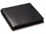 Fa.Volmer ® Herren Ledergeldbörse aus echtem Leder Querformat #VO11 (Typ1 Schwarz) - 1