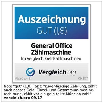 General Office Münzzähler: Professionelle Euro-Münz-Sortier- & Zählmaschine (Kleingeldzählmaschine) - 2
