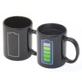 Goods & Gadgets Animierte Kaffeetasse mit Akku-Batterie Kaffeebecher Tee-Tasse Thermoeffekt mit Thermo Wärmeeffekt Farbwechsel - 1