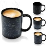 Grinscard Keramik Tasse mit Animiertem Thermoeffekt - Sternbilder Design 0,3l - Motiv Kaffeetasse zum Verschenken - 1