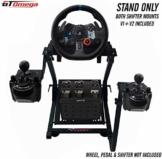 GT Omega Lenkradständer PRO für Logitech G29 G920 mit Schalt anbringen V1 und V2, Thrustmaster T500 T300 TX und TH8A - PS4 Xbox Fanatec - Neigungsverstellbares Design für ultimatives Sim Racing - 1