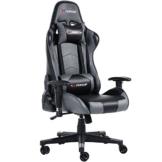 GTFORCE PRO FX - Gaming-Stuhl für E-Sport und Rennspiele - PC-Stuhl für das Büro - Liegepositionen - Kunstleder - Grau - 1