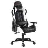 GTFORCE PRO GT - Gaming-Stuhl für E-Sport und Rennspiele - PC-Stuhl für das Büro - Liegepositionen - Kunstleder - Weiß - 1