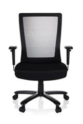 hjh OFFICE 738010 Bürostuhl XXL Extender Netzstoff Schwarz Schreibtischstuhl bis 180 kg belastbar - 1