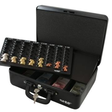 HMF 22037-02 Geldkassette Geldzählkassette 2 Tragegriffe, 36 x 25 x 11 cm, schwarz - 3