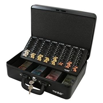 HMF 22037-02 Geldkassette Geldzählkassette 2 Tragegriffe, 36 x 25 x 11 cm, schwarz - 4