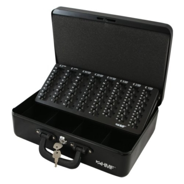HMF 22037-02 Geldkassette Geldzählkassette 2 Tragegriffe, 36 x 25 x 11 cm, schwarz - 1