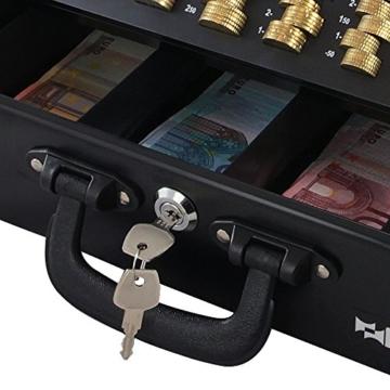 HMF 22037-02 Geldkassette Geldzählkassette 2 Tragegriffe, 36 x 25 x 11 cm, schwarz - 6
