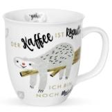 H:)PPY life 45180 Kaffeetasse mit Spruch Faultier, Geschenk-Tasse, Porzellan, 40 cl - 1