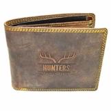 Hunters Leder Geldbeutel Wild Büffel Leder-Geldbörse Natural Hunter Leder Herren Portemonnaie Herren Geldbeutel - 1