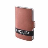 I-CLIP ® Geldbörse Soft-Touch Oak, Metallic-Grey (In 8 Varianten Erhältlich) - 1