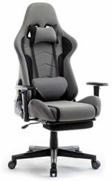 IntimaTe WM Heart Gaming Stuhl, Racing Gamer Stuhl Bürostuhl Stoff, Ergonomischer Computerstuhl mit Fußstütze, Drehstuhl mit Hoher Rückenlehne - 1