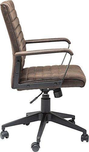 Kare Design Bürodrehstuhl Labora, moderner Designer Schreibtischstuhl mit Armlehnen und Gasdruckfeder, höhenverstellbar, Braun (H/B/T) 105x57x61cm - 2