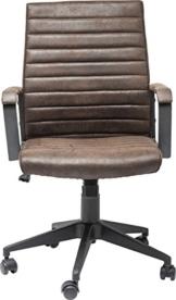 Kare Design Bürodrehstuhl Labora, moderner Designer Schreibtischstuhl mit Armlehnen und Gasdruckfeder, höhenverstellbar, Braun (H/B/T) 105x57x61cm - 1