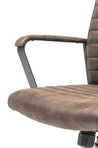 Kare Design Bürodrehstuhl Labora, moderner Designer Schreibtischstuhl mit Armlehnen und Gasdruckfeder, höhenverstellbar, Braun (H/B/T) 105x57x61cm - 3