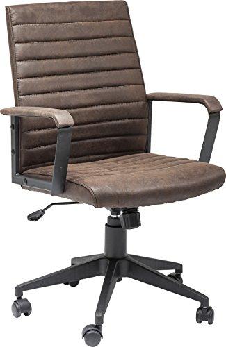 Kare Design Bürodrehstuhl Labora, moderner Designer Schreibtischstuhl mit Armlehnen und Gasdruckfeder, höhenverstellbar, Braun (H/B/T) 105x57x61cm - 4
