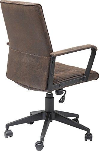 Kare Design Bürodrehstuhl Labora, moderner Designer Schreibtischstuhl mit Armlehnen und Gasdruckfeder, höhenverstellbar, Braun (H/B/T) 105x57x61cm - 5