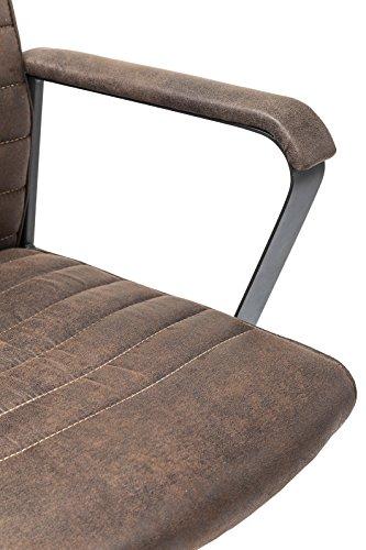 Kare Design Bürodrehstuhl Labora, moderner Designer Schreibtischstuhl mit Armlehnen und Gasdruckfeder, höhenverstellbar, Braun (H/B/T) 105x57x61cm - 9