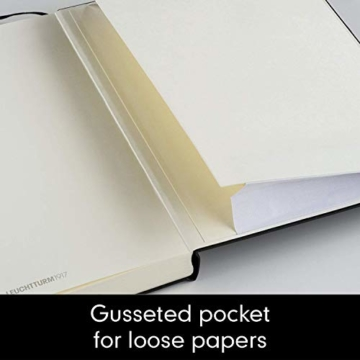 LEUCHTTURM1917 311333 Notizbuch Medium (A5), Hardcover, 251 nummerierte Seiten, Schwarz, blanko - 5