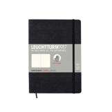 LEUCHTTURM1917 324804 Notizbuch Medium (A5), Softcover, 123 nummerierte Seiten, dotted, Schwarz - 1