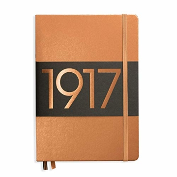 LEUCHTTURM1917 355680 Notizbuch Medium (A5), Hardcover, 251 nummerierte Seiten, dotted, Kupfer - 1