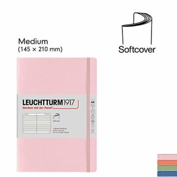 LEUCHTTURM1917 361592 Notizbuch Medium (A5), Softcover, 123 nummerierte Seiten, Salbei, dotted - 6