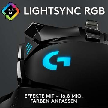 Logitech G502 HERO High-Performance Gaming-Maus, HERO 16000 DPI Optischer Sensor, RGB-Beleuchtung, Gewichtstuning, 11 Programmierbare Tasten, Anpassbare Spielprofile, PC/Mac - Deutsche Verpackung - 2