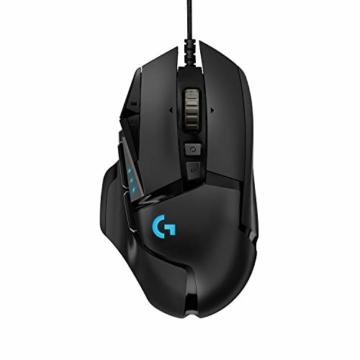 Logitech G502 HERO High-Performance Gaming-Maus, HERO 16000 DPI Optischer Sensor, RGB-Beleuchtung, Gewichtstuning, 11 Programmierbare Tasten, Anpassbare Spielprofile, PC/Mac - Deutsche Verpackung - 1