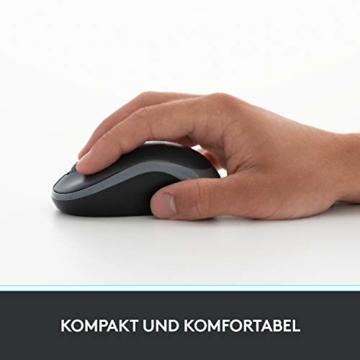 Logitech M185 Kabellose Maus, 2.4 GHz Verbindung via Nano-USB-Empfänger, 1000 DPI Optischer Sensor, 12-Monate Akkulaufzeit, Für Links- und Rechtshänder, PC/Mac - rot - 4