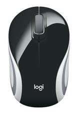 Logitech M187 Ultramobile Kabellose Maus, 2.4 GHz Verbindung via Nano-USB-Empfänger, 1000 DPI Sensor, Kompaktes Design, 3 Tasten, PC/Mac - schwarz - 1