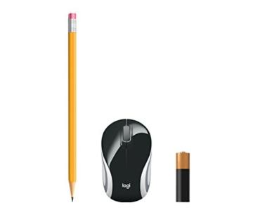 Logitech M187 Ultramobile Kabellose Maus, 2.4 GHz Verbindung via Nano-USB-Empfänger, 1000 DPI Sensor, Kompaktes Design, 3 Tasten, PC/Mac - schwarz - 4