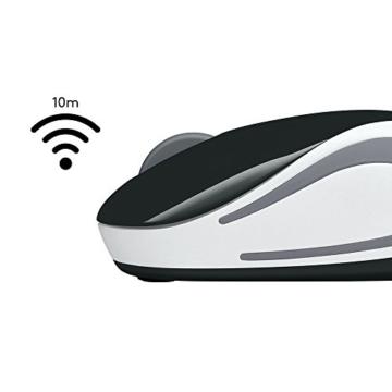 Logitech M187 Ultramobile Kabellose Maus, 2.4 GHz Verbindung via Nano-USB-Empfänger, 1000 DPI Sensor, Kompaktes Design, 3 Tasten, PC/Mac - schwarz - 5