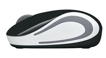 Logitech M187 Ultramobile Kabellose Maus, 2.4 GHz Verbindung via Nano-USB-Empfänger, 1000 DPI Sensor, Kompaktes Design, 3 Tasten, PC/Mac - schwarz - 6