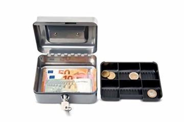 Maul Geldkassette 1, Silber, Münzgeldeinsatz Herausnehmbar, 153 x 81 x 125 mm, 5610195, 1 Stück - 4
