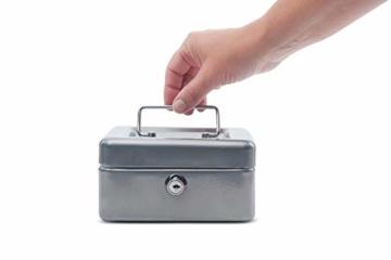 Maul Geldkassette 1, Silber, Münzgeldeinsatz Herausnehmbar, 153 x 81 x 125 mm, 5610195, 1 Stück - 5