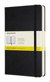 Moleskine - Klassisches Notizbuch mit Punktraster und Zusatzseiten - Hardcover mit elastischem Verschlussband - Farbe Schwarz - Größe A5 13 x 21 - 400 Seiten - 1